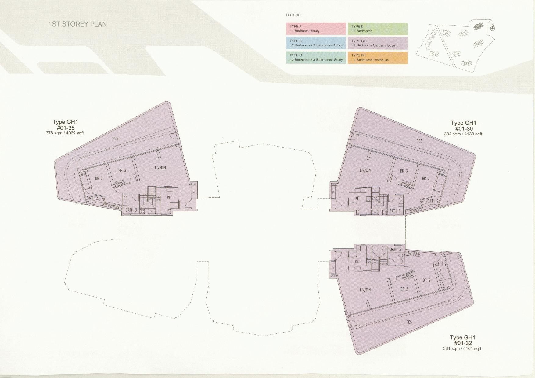D'Leedon Block 11 1st Storey Floor Plans