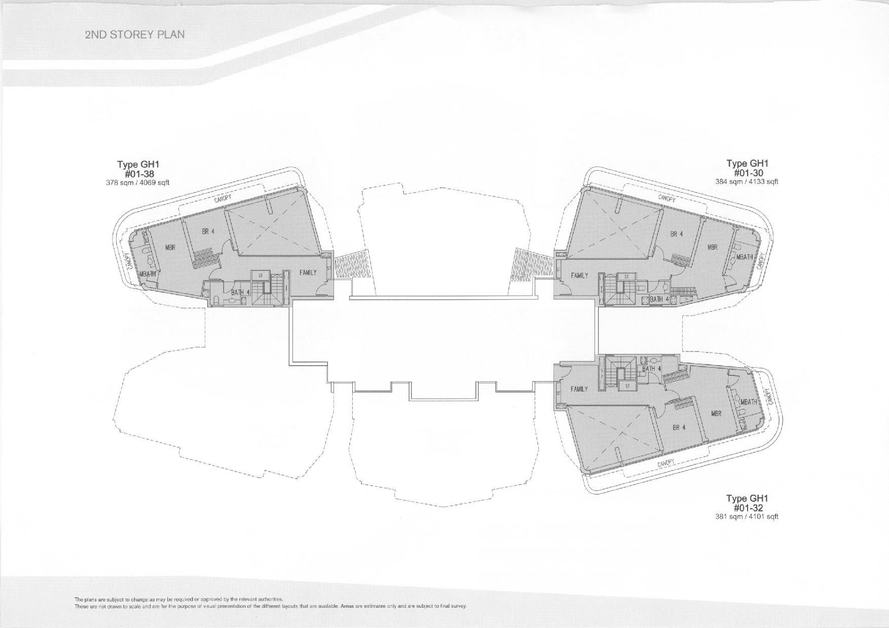 D'Leedon Block 11 2nd Storey Floor Plans