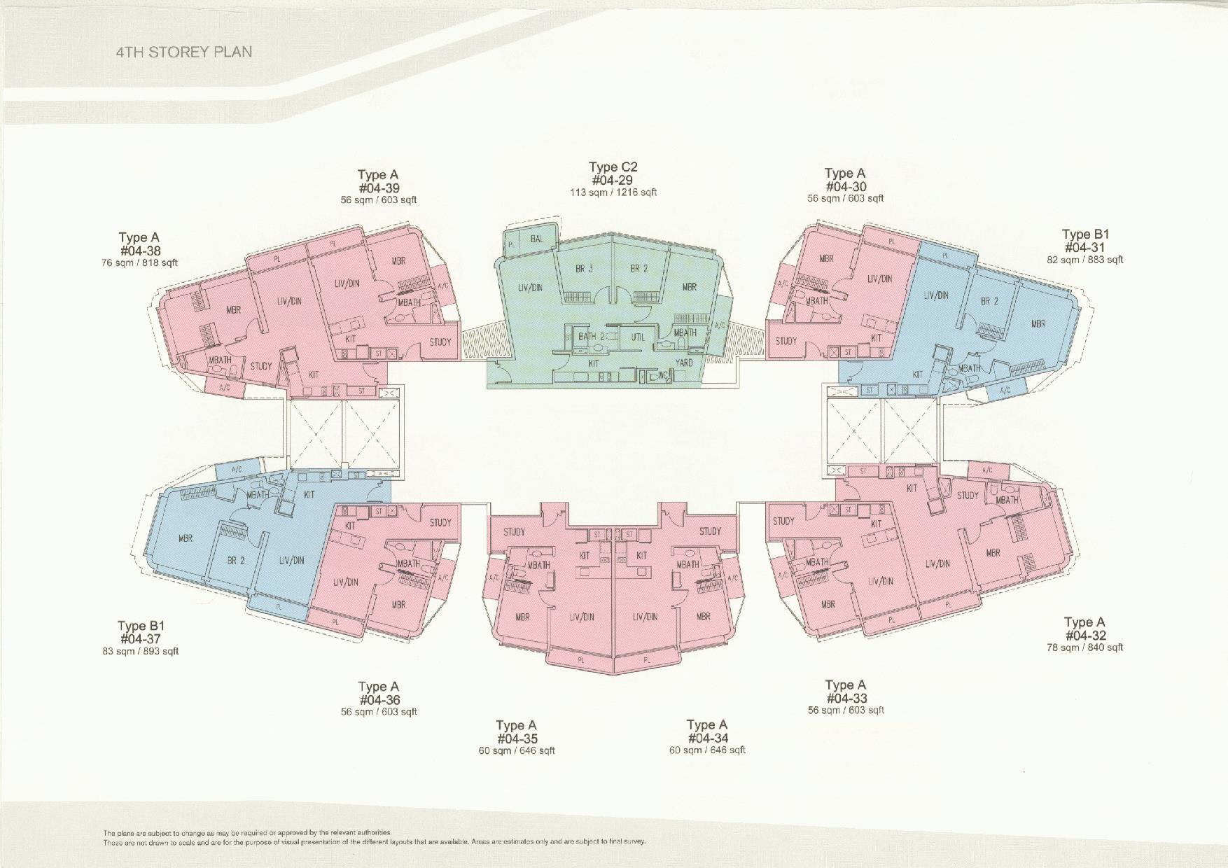 D'Leedon Block 11 4th Storey Floor Plans