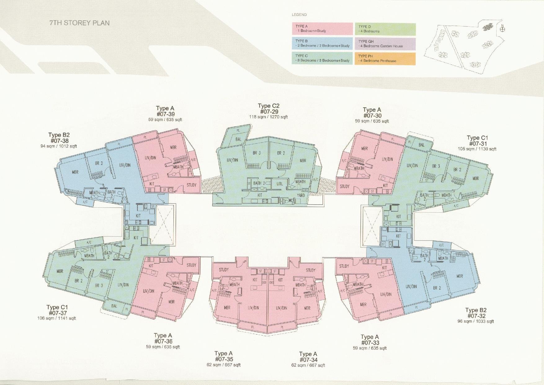 D'Leedon Block 11 7th Storey Floor Plans