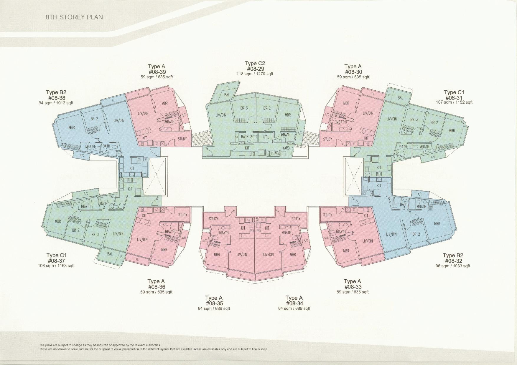 D'Leedon Block 11 8th Storey Floor Plans