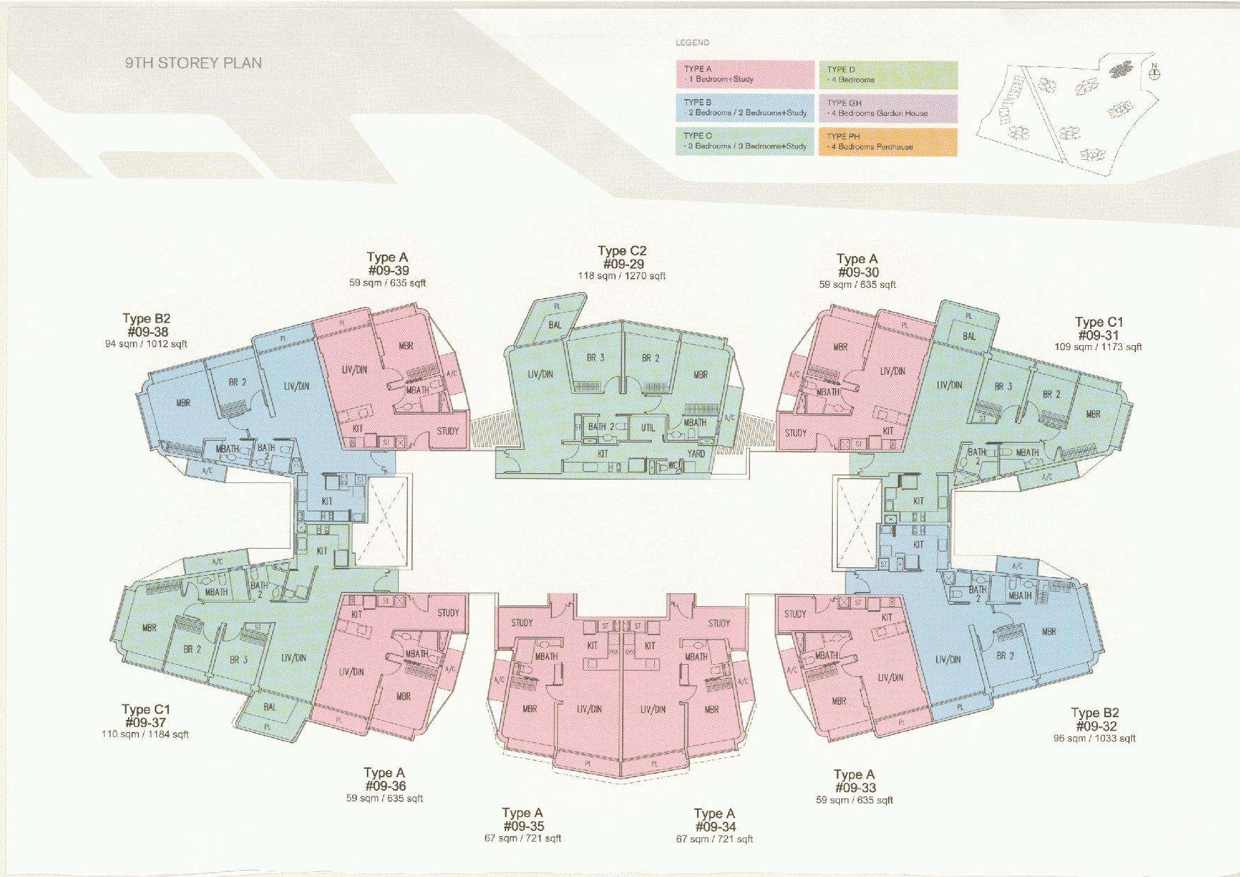 D'Leedon Block 11 9th Storey Floor Plans