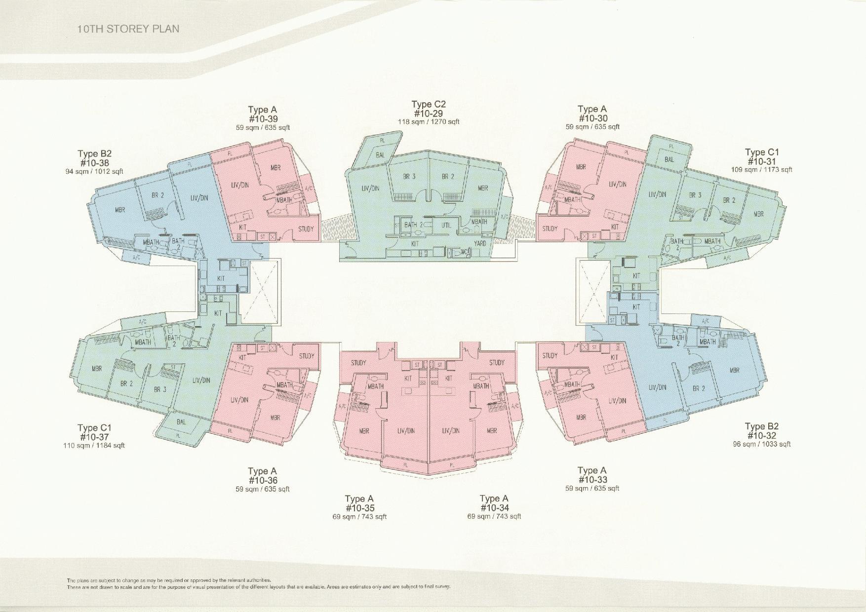 D'Leedon Block 11 10th Storey Floor Plans