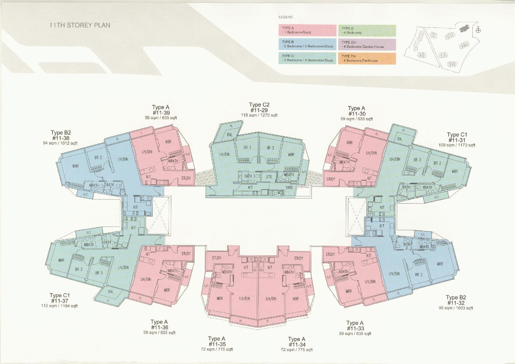 D'Leedon Block 11 11th Storey Floor Plans