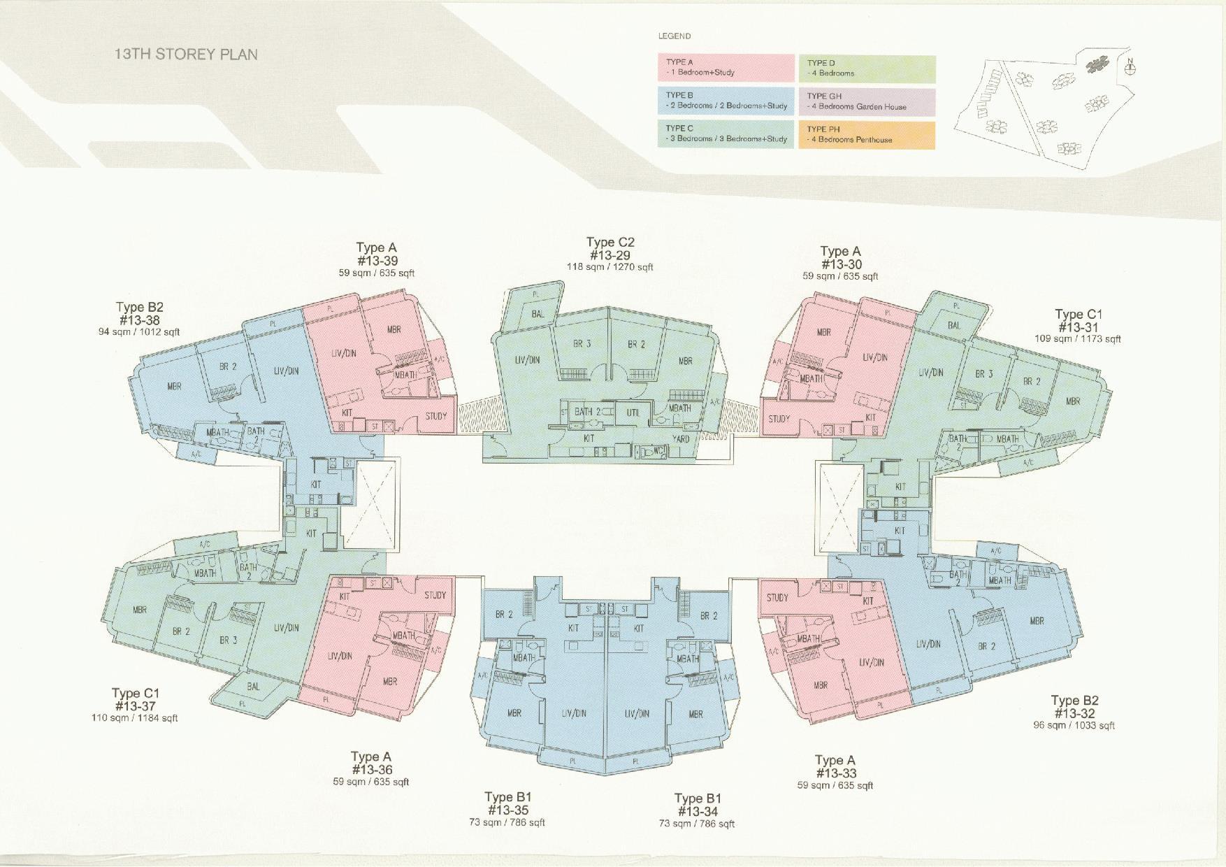 D'Leedon Block 11 13th Storey Floor Plans