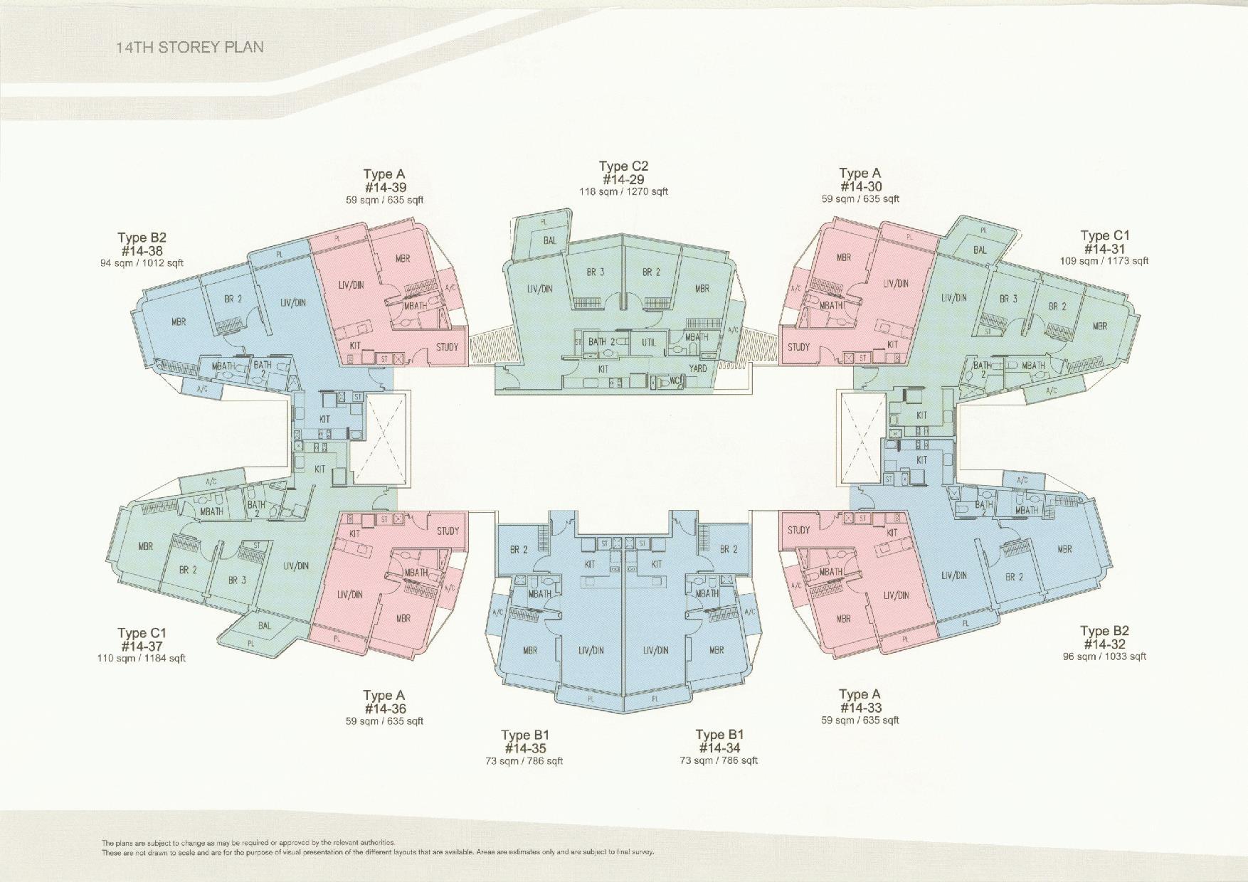D'Leedon Block 11 14th Storey Floor Plans