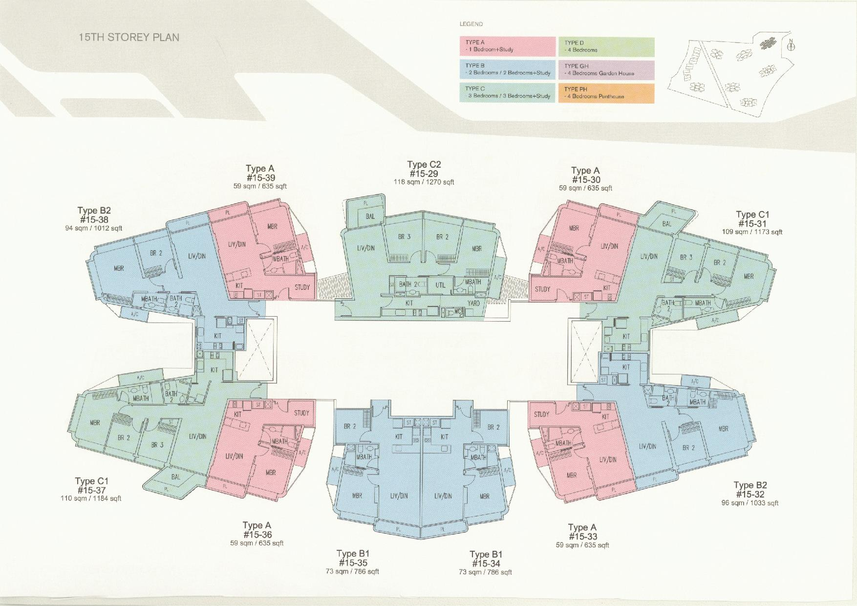 D'Leedon Block 11 15th Storey Floor Plans