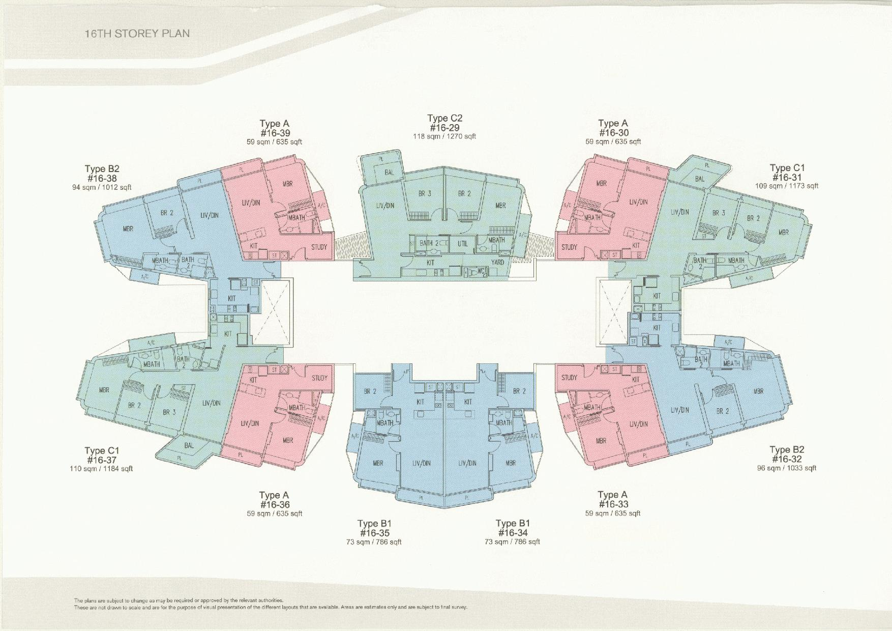 D'Leedon Block 11 16th Storey Floor Plans