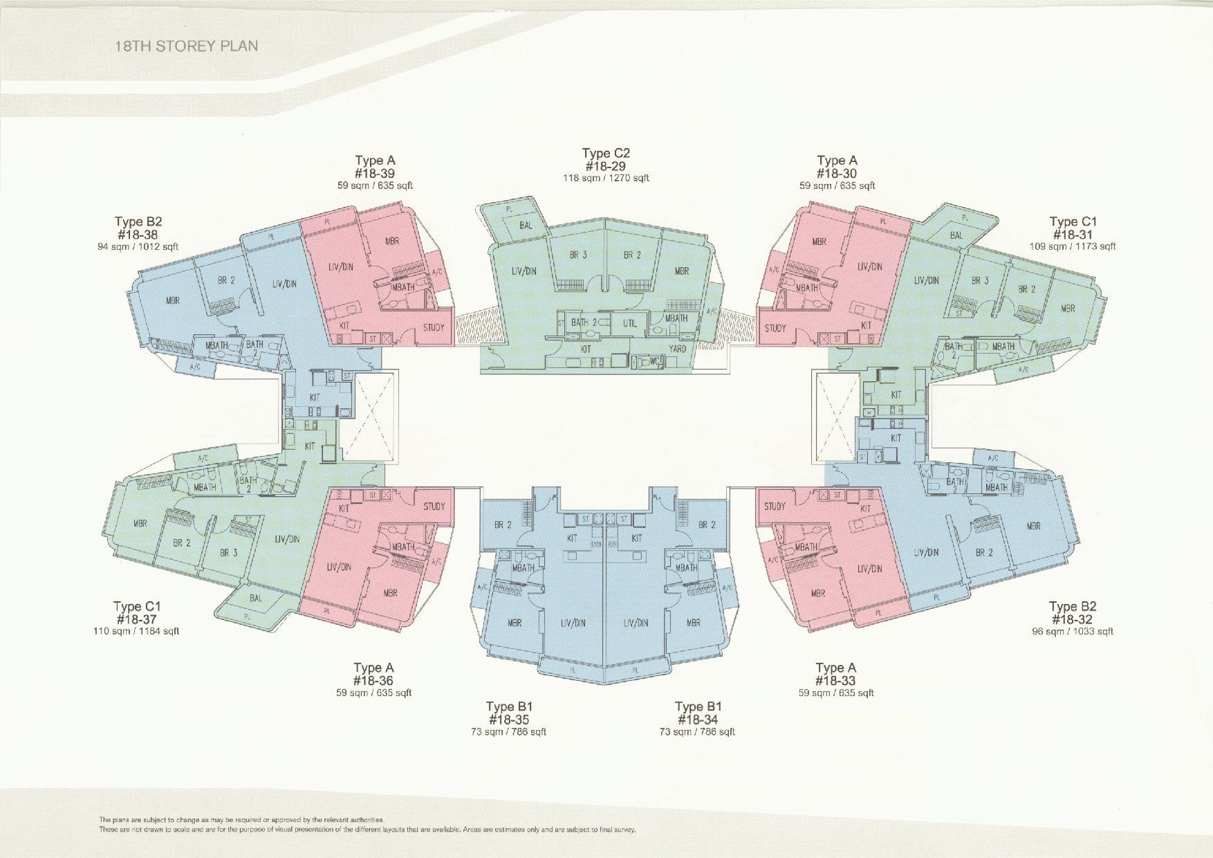 D'Leedon Block 11 18th Storey Floor Plans