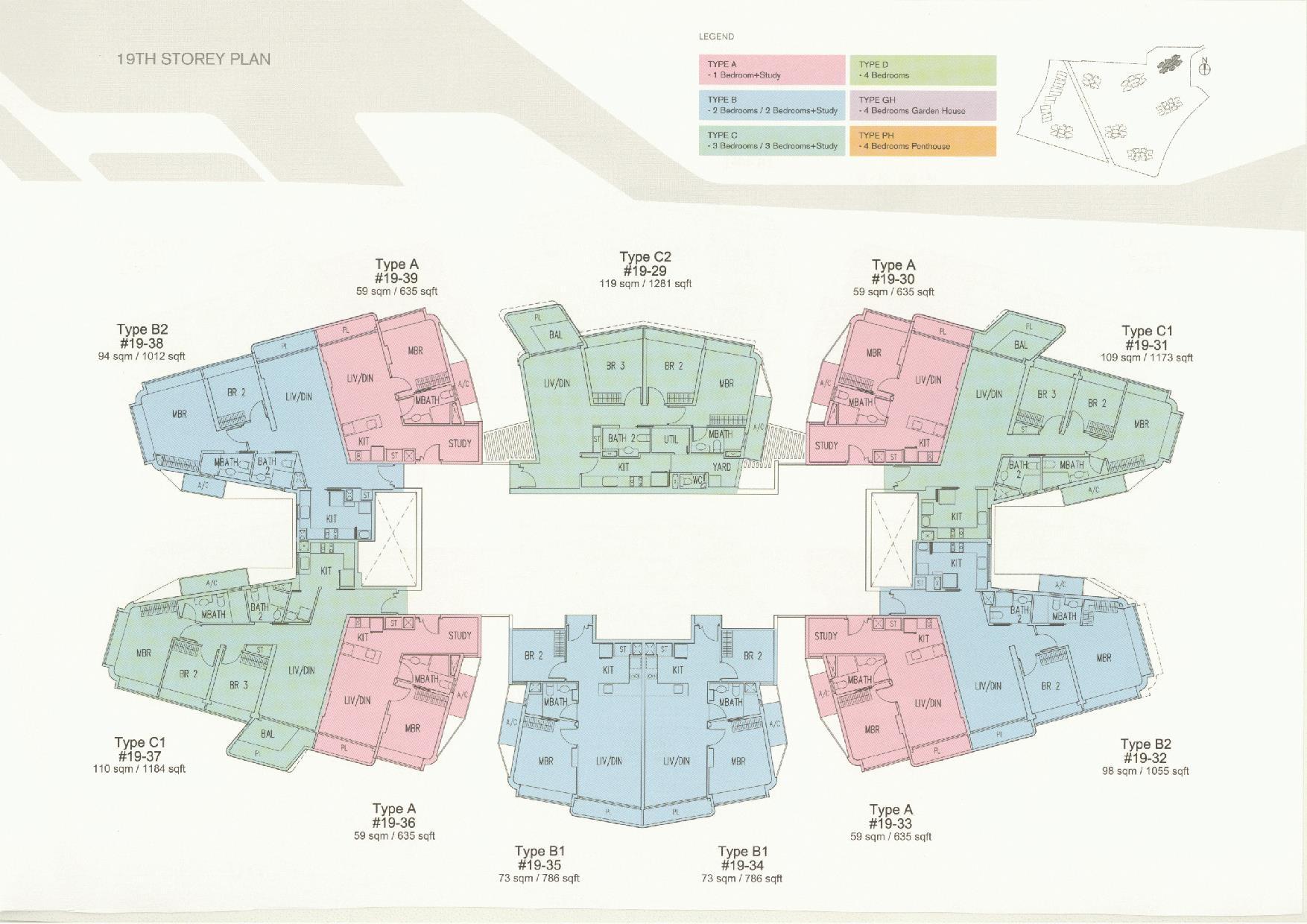 D'Leedon Block 11 19th Storey Floor Plans