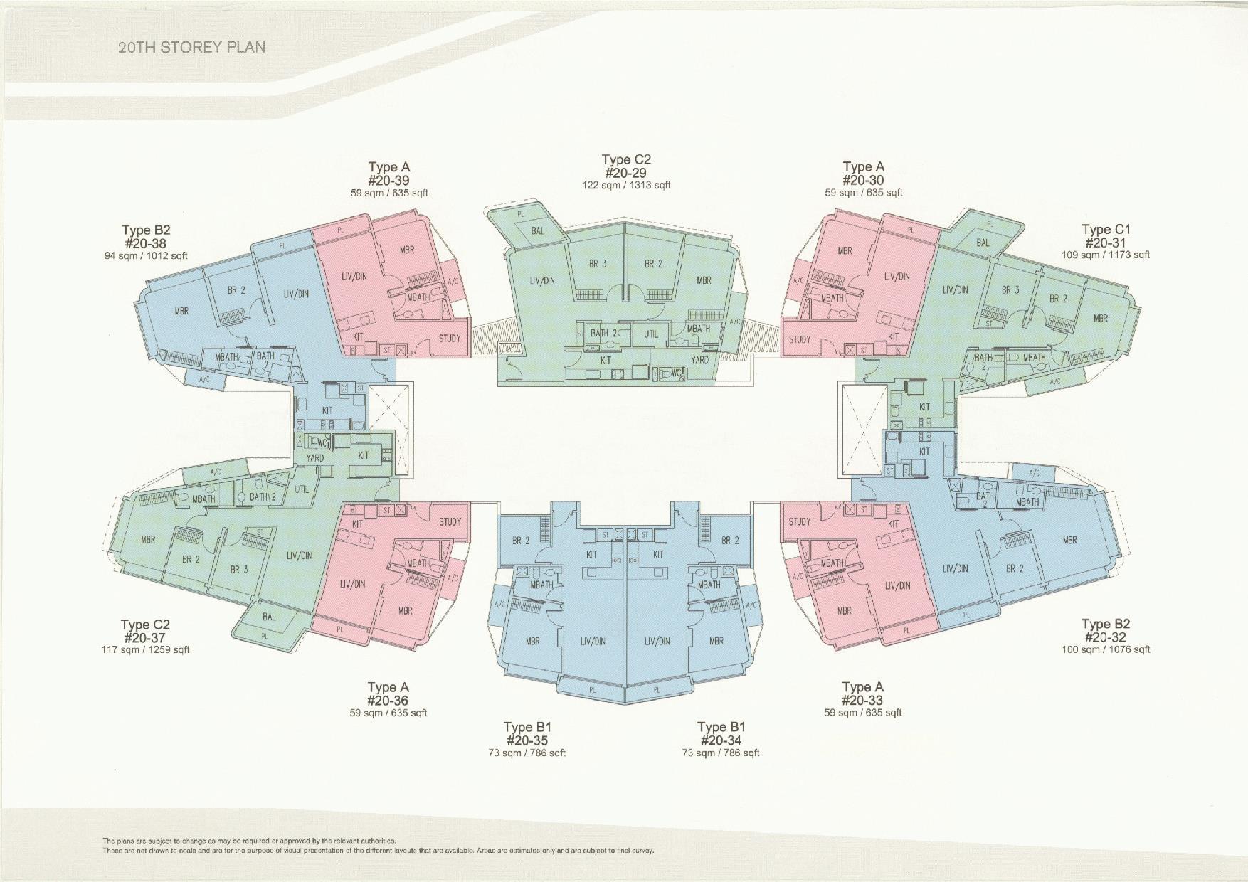 D'Leedon Block 11 20th Storey Floor Plans