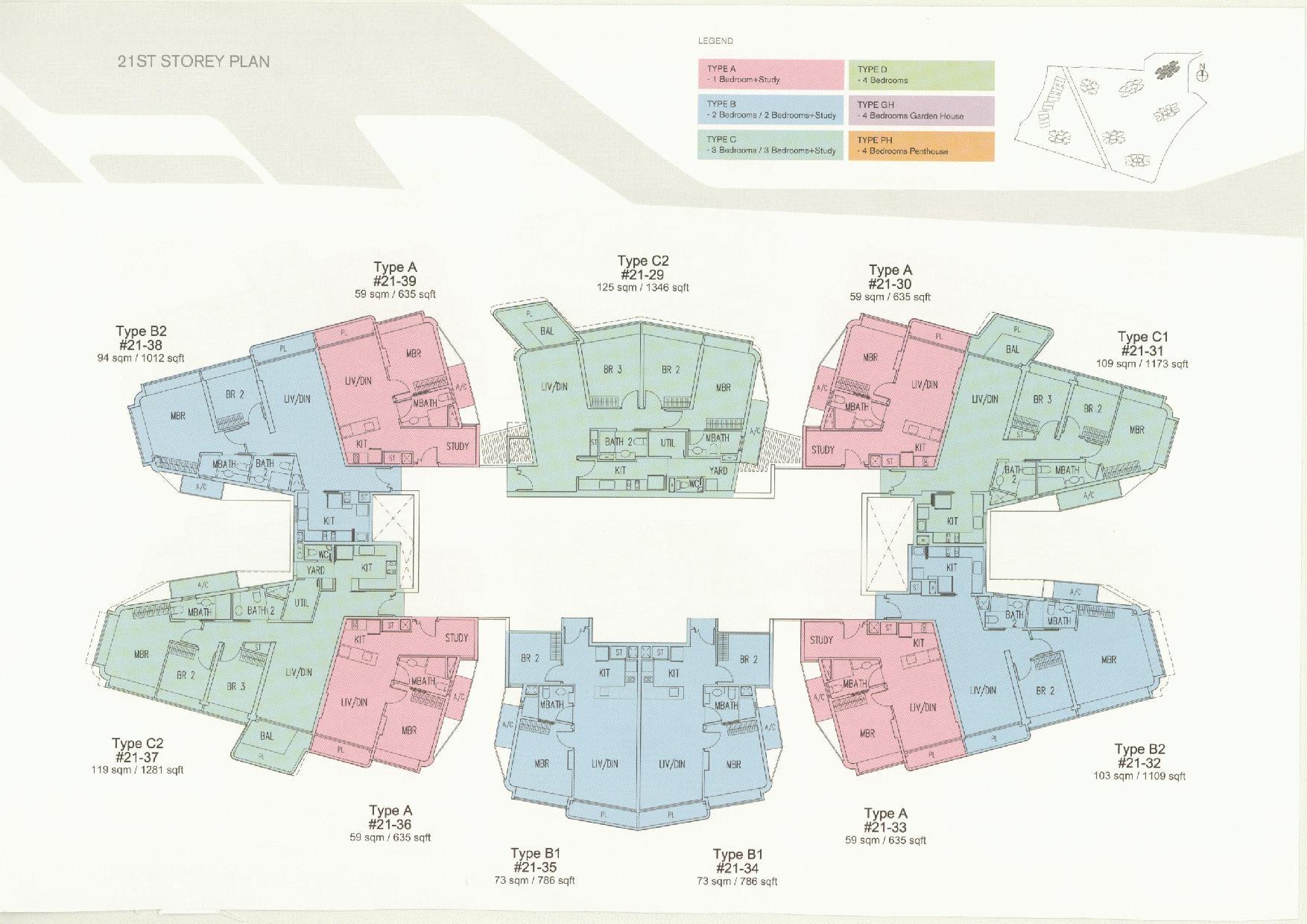 D'Leedon Block 11 21st Storey Floor Plans