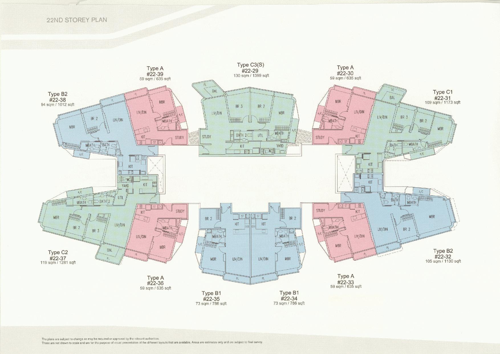 D'Leedon Block 11 22nd Storey Floor Plans