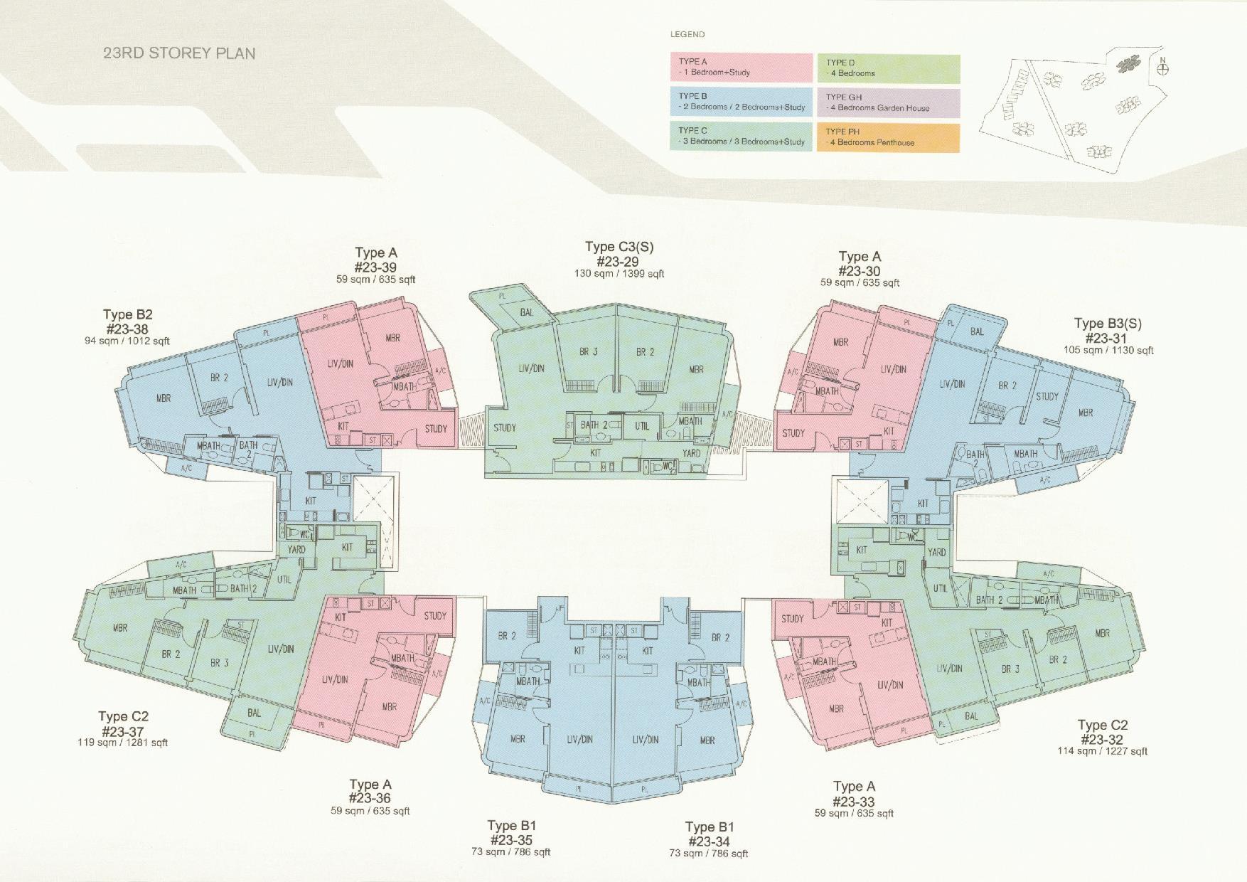 D'Leedon Block 11 23rd Storey Floor Plans