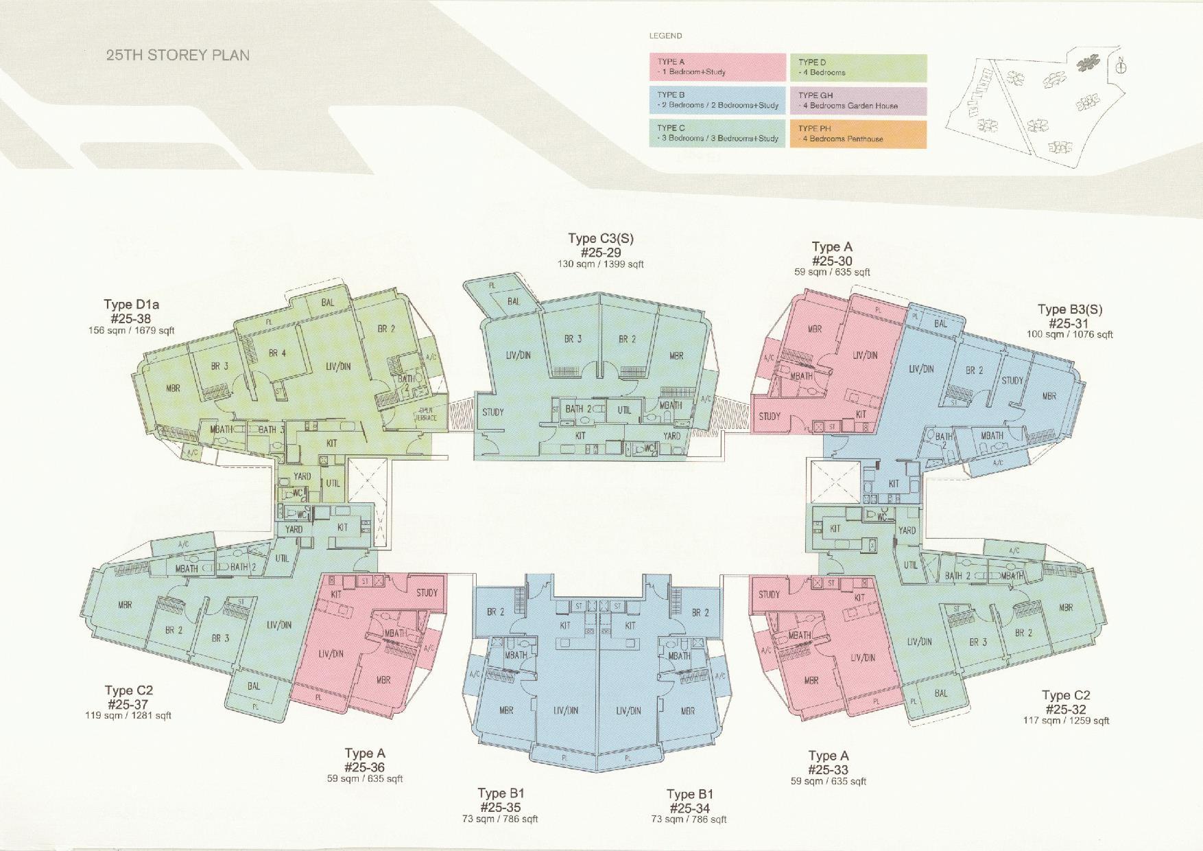 D'Leedon Block 11 25th Storey Floor Plans