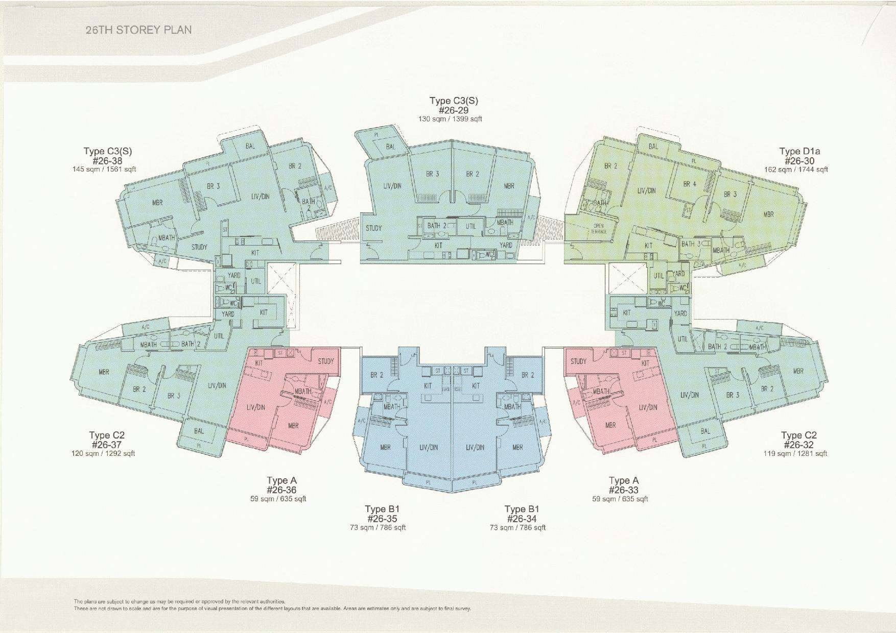 D'Leedon Block 11 26th Storey Floor Plans