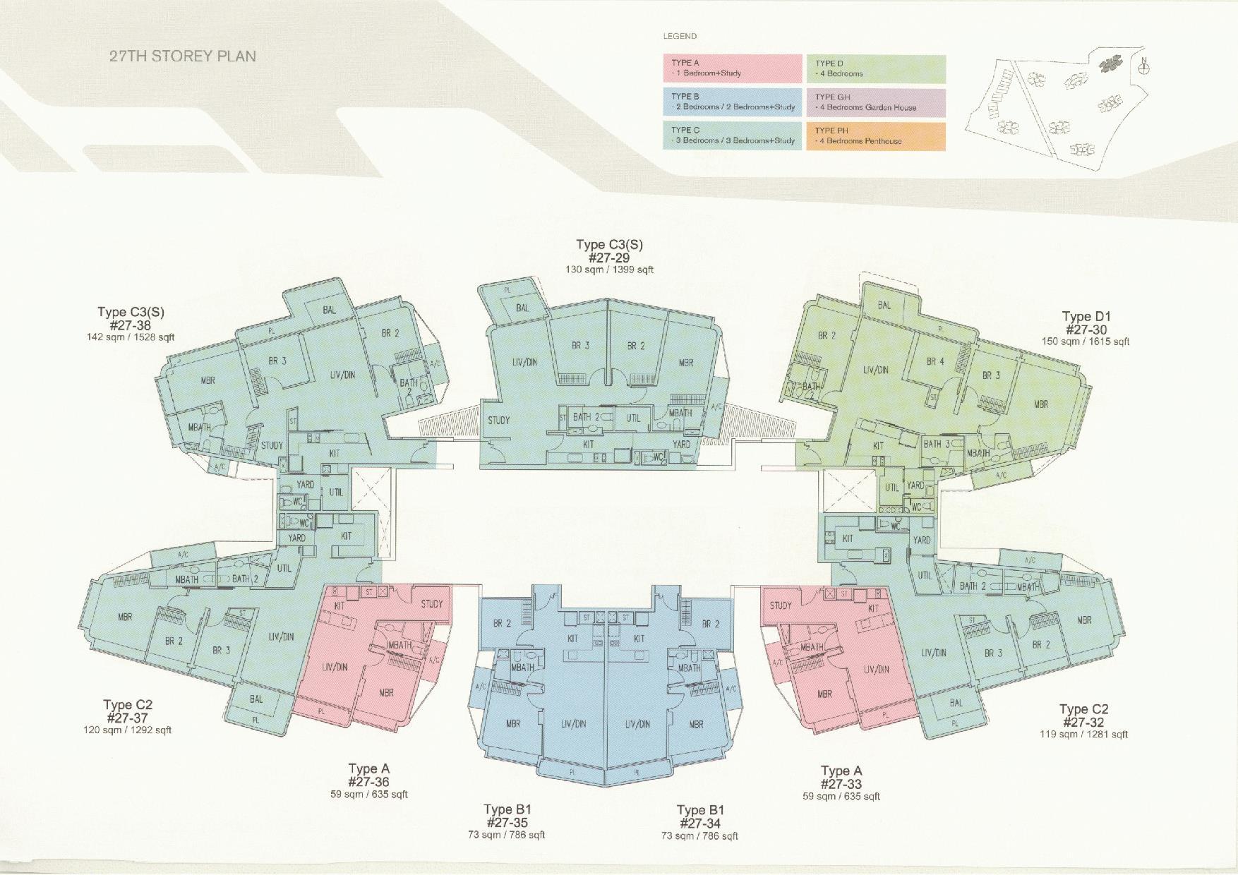 D'Leedon Block 11 27th Storey Floor Plans