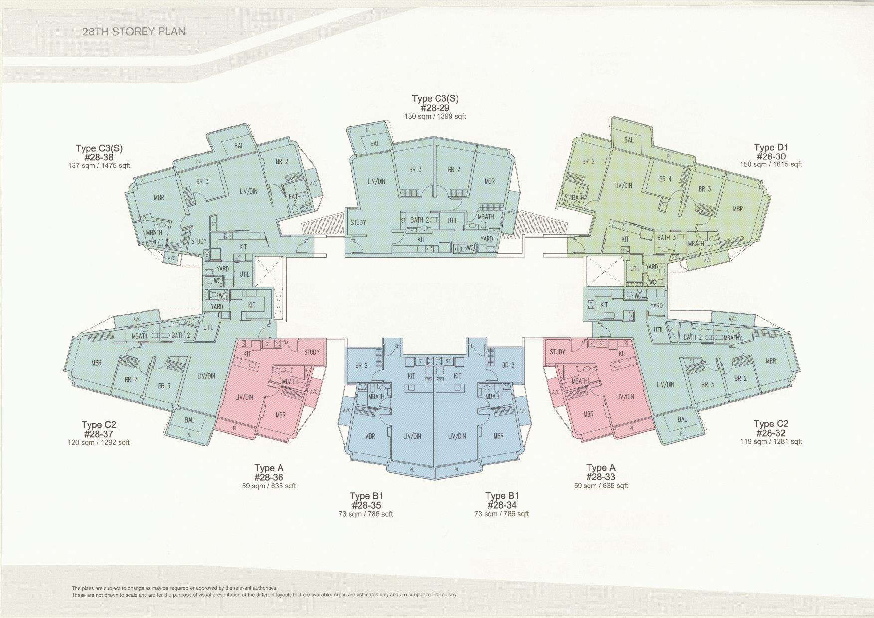 D'Leedon Block 11 28th Storey Floor Plans