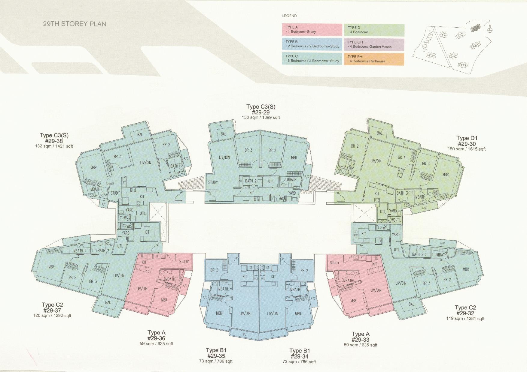 D'Leedon Block 11 29th Storey Floor Plans