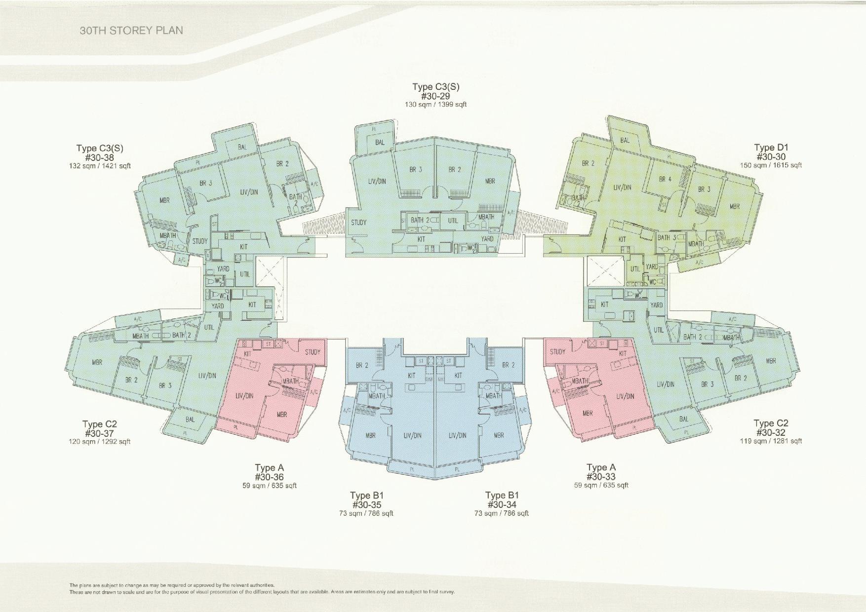 D'Leedon Block 11 30th Storey Floor Plans