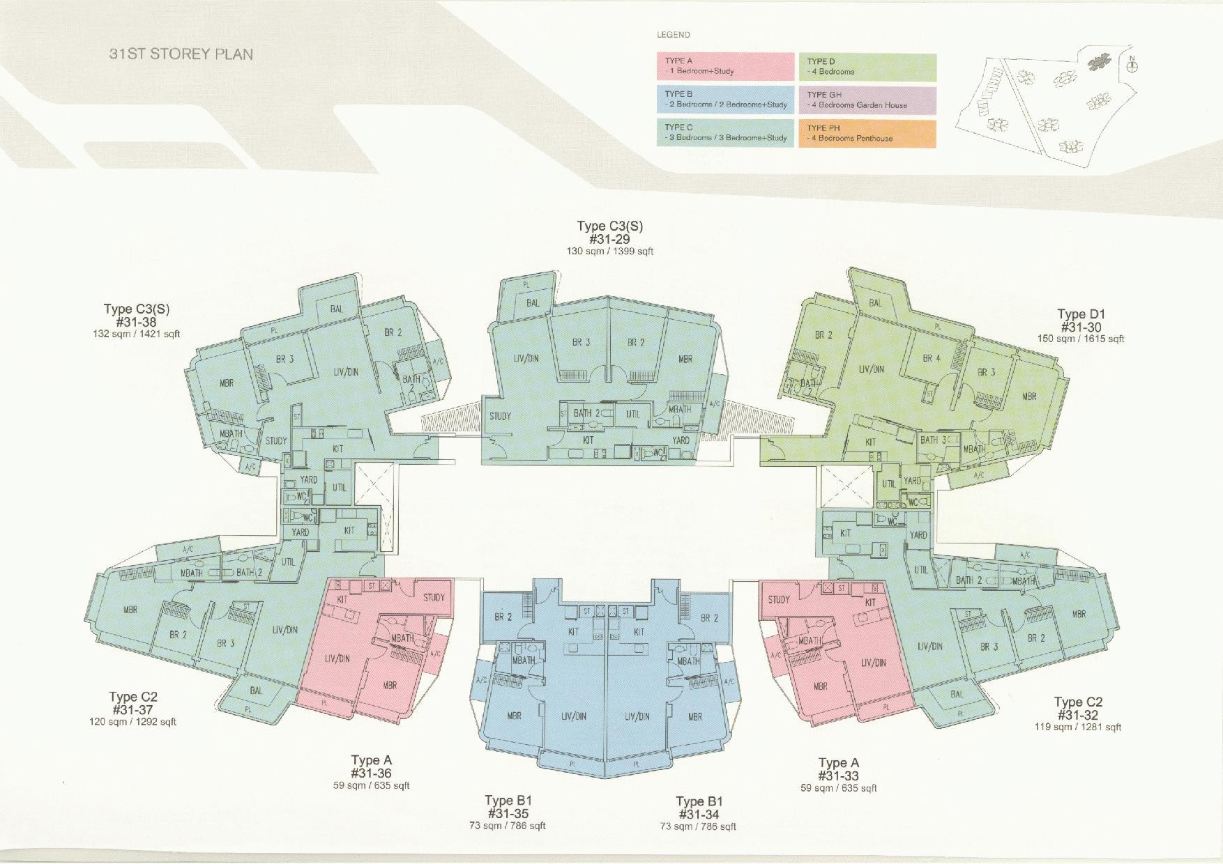 D'Leedon Block 11 31st Storey Floor Plans