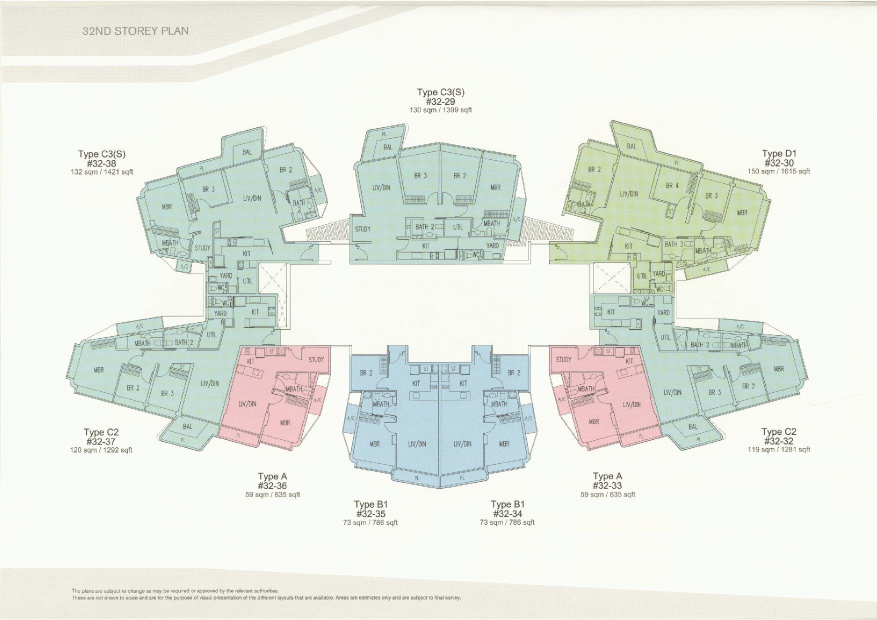D'Leedon Block 11 32nd Floor Plans