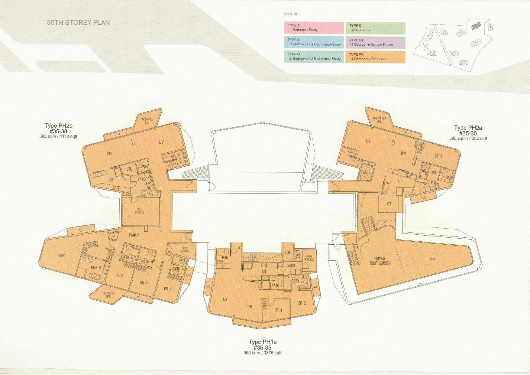 D'Leedon Block 11 35th Storey Floor Plans